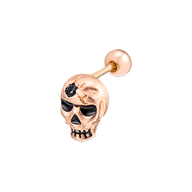 14K Skeleton Gentleman Halloween Piercing