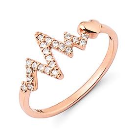 14K / 18K love bit ring