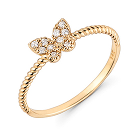 14K / 18K Bosco butterfly ring