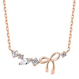 14K / 18K Ribbon Flower Necklace