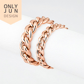 14K hollow curves (Pink) chain rings [2 families 1]