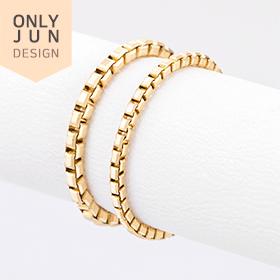 14K stylish box chain rings [2 families 1]
