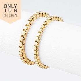 14K Box chain rings [2 families 1]