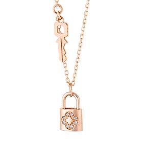 14K / 18K Love Lock Necklace