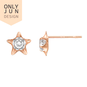 14K Wide Star Earring [overnightdelivery]