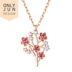 14K / 18K Winter Birth Camellia Necklace