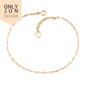 14K Shine Kiss Single Line bracelet [Overnightdelivery]