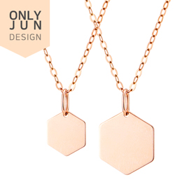 14K simple hexa Pendants purchase only / Necklace [2 types1] [Overnightdelivery]