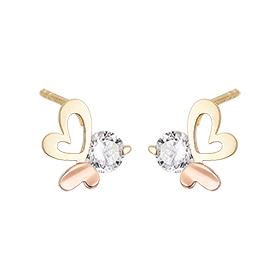 14K Heartwing Earring [Overnightdelivery]