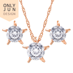 14K Whispering Star set [Necklace + earring] [Overnightdelivery]