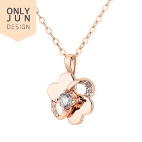 14K / 18K Love You Part 1 diamond Necklace