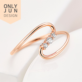 [★Recommended model★]14K/18K sparkling heart ring